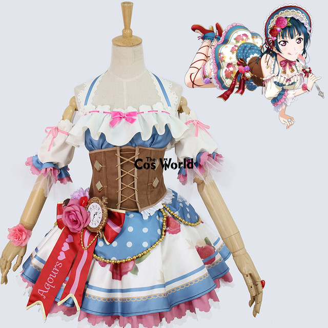 aqours chocolate valentines day tsushima yoshiko maid dress uniform outfit anime