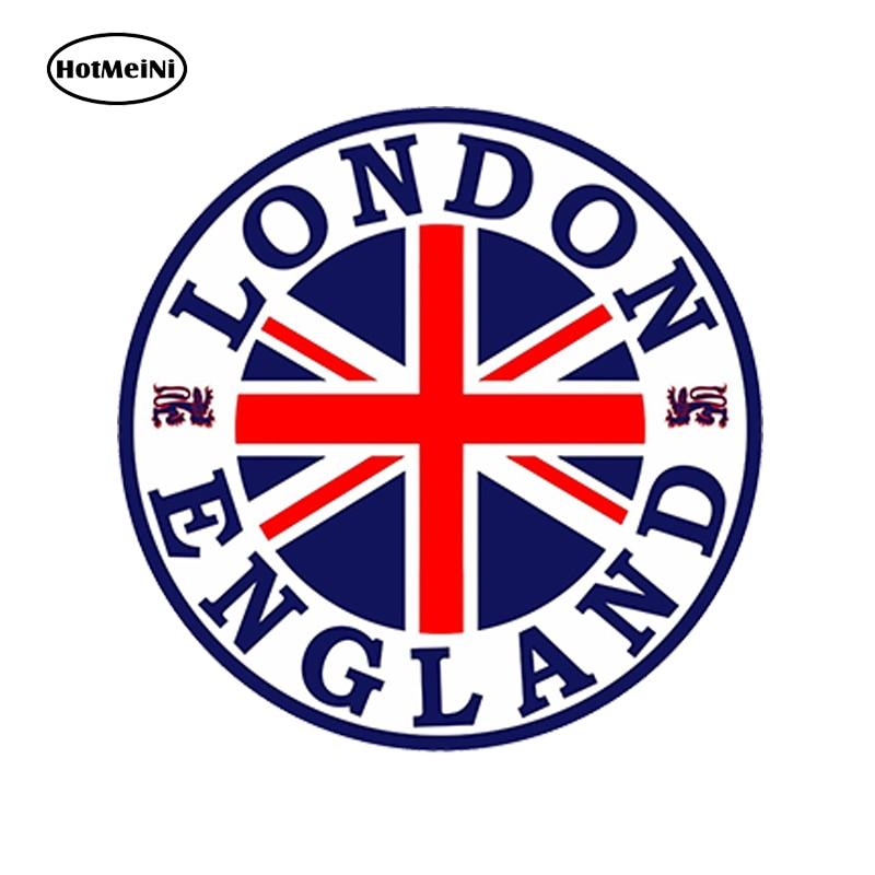 HotMeiNi Car Styling Car Sticker London England Seal Sticker Round Flag Union Jack Bumper Car Helmet Skateboard 13cm x 13cm