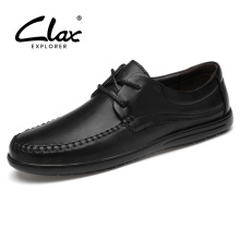 CLAX Man Leather Dress Shoes Genuine Male Derby Formal Shoe Office male social shoe Wedding Footwear Soft