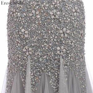 Image 4 - Erosebridal vestido de noche escarpado con cuentas grises, vestidos de baile con perlas, cuello en U