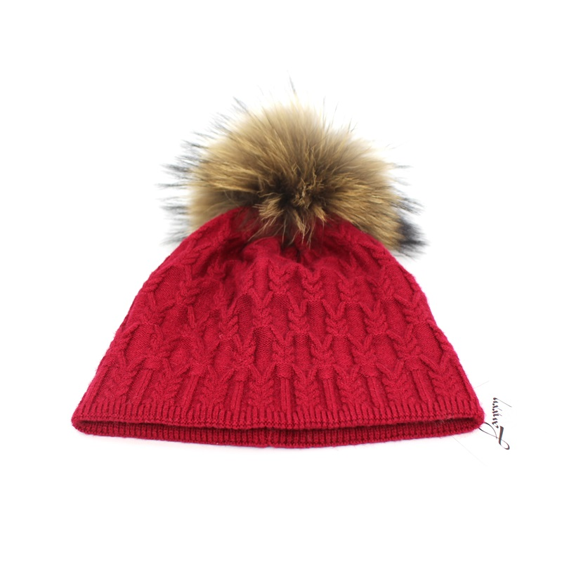 Lanxxy Real Fur Hat Mulheres Cap Gorro Chapéus Pompom Meninas Gorro Touca  Gorro Pom Pom Chapéus de Inverno para As Mulheres em Skullies   Gorros de  ... 8bdb9402023