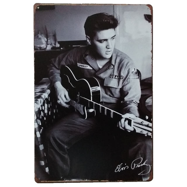 Classic Elvis Presley Vintage The King Metal Plate Sign Poster Style