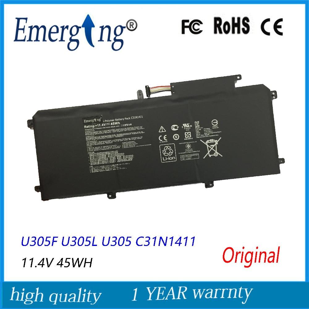 11.4V 45Wh Original New Laptop Battery For ASUS  U305F U305L U305 C31N1411  Zenbook U305CA
