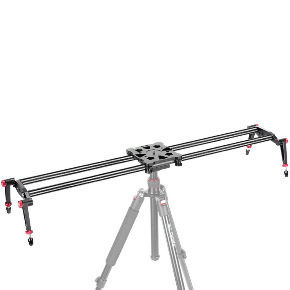 Neewer 80cm Carbon Fiber Camera Track Dolly Slider Rail System with Load Capacity for Stabilizing Movie Film Video Photography