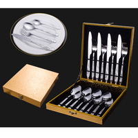 NHM Western dinner tableware 4 pieces stainless steel knife and fork western style food knife and fork gift set