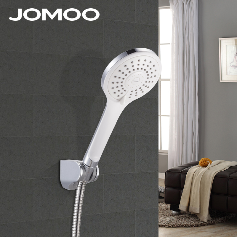 JOMOO Multi-function Shower Head Chuveiro ABS Hand Shower With Pipe 1.5M Stainless Steel Shower Hose and Wall Bracket Shower Set
