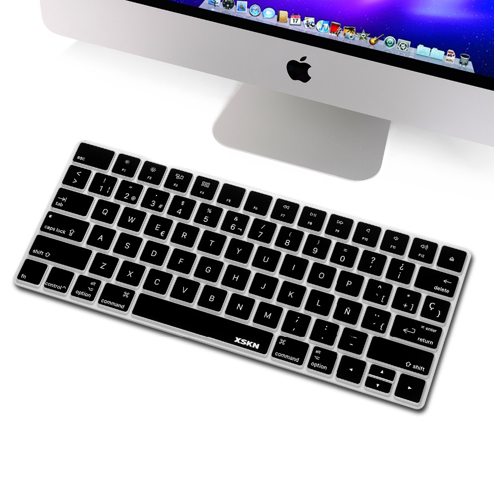 xskn spanish magic keyboard cover for apple wireless bluetooth keyboard magic keyboard black. Black Bedroom Furniture Sets. Home Design Ideas
