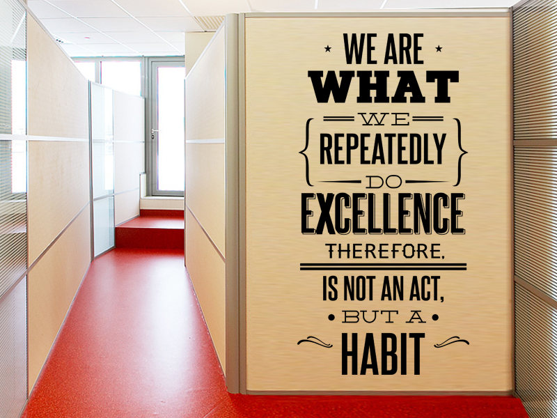 YOYOYU Vinyl wall stickers We are What Quote Removeable Wall Decal Salon Office Studio Wall Decor Room Decoration ZX265