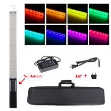 Светодиодный ручной светильник с регулировкой яркости для фотосъемки со льдом, встроенный аккумулятор 3200k до 5500k, цветной светодиодный светильник RGB с управлением через приложение для телефона