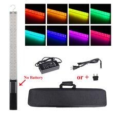 Fotografia możliwość przyciemniania ręczne patyczki do lodów światło LED do kamery wbudowana bateria 3200k do 5500k RGB kolorowe kontrolowane przez aplikacja na telefon