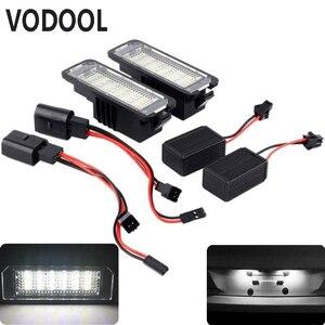 Image 2 - VODOOL 2Pcs 12V LED מספר לוחית רישוי אור מנורות רכב לוחית רישוי אורות חיצוני אביזרי עבור פולקסווגן גולף 4 5 6 7 פולו 6R