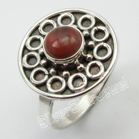 . Silver REAL MIX Jades Beautiful Ring Size 7.5 ! Brand New