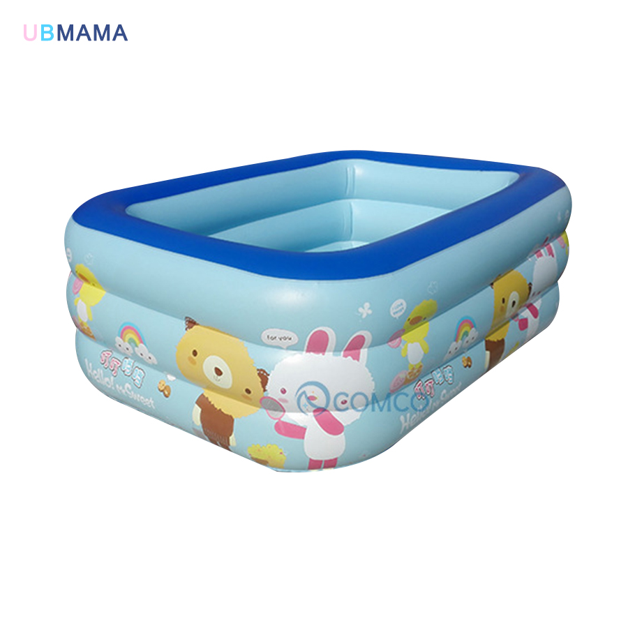 plastic PVC Cartoon pattern Inflatable round bathtub outdoor ...