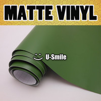 Military Green Matte Vinyl Military Green Matte Wrap Air Bubble Free For Car Wrapping Size:1.52x30m/Roll