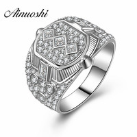 Genuine 925 Fine Jewelry Engagement Men Rings Luxury Quality Charms Cool Designer Micro Inlay Sterling Silver Engagement Rings