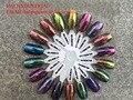 Espejo de pigmento, pigmento de cromo, cromo en polvo, polvo de camaleón espejo, cromo camaleón, artículo: HLMR02.., 1 lote = 1 gramos * 8 artículo, el total de 8 gramos.