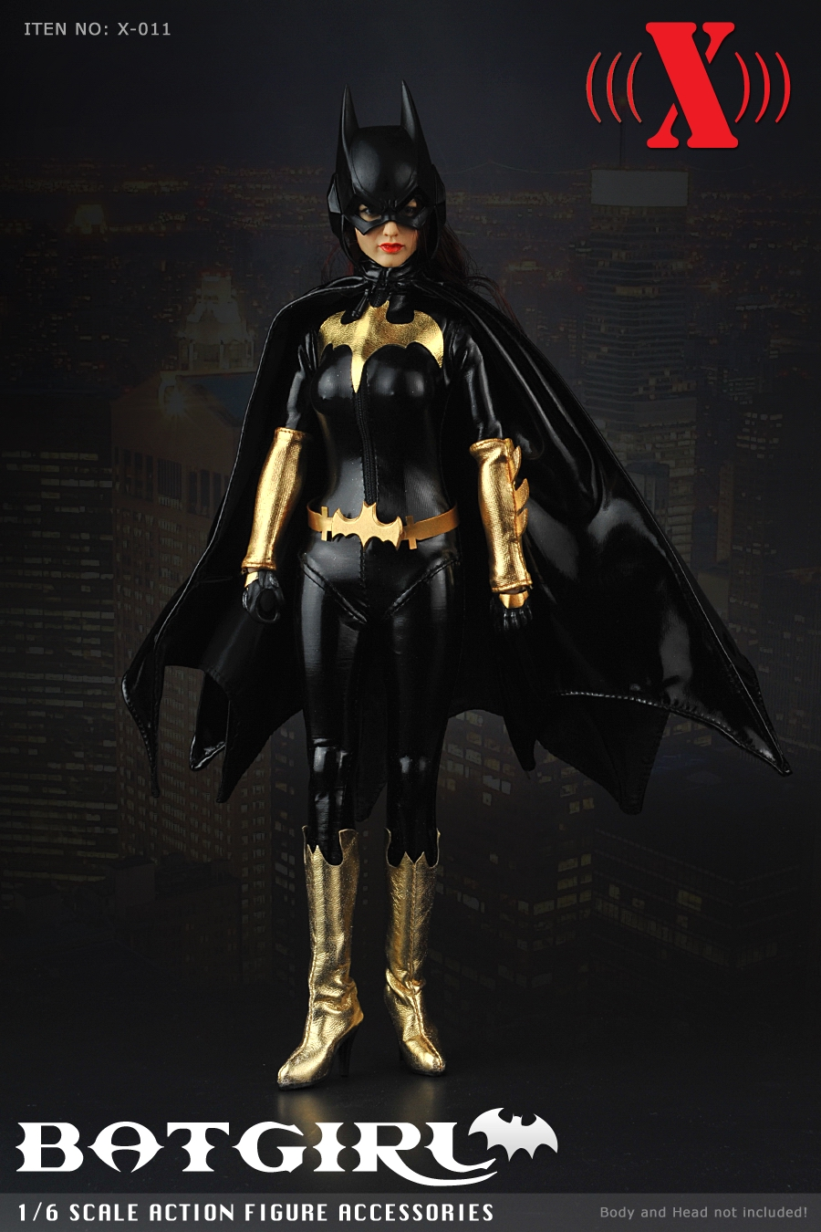1/6 scale Batgirl black leather jumpsuit with mask version X011 for 12 inches female woman action figures clothing accessories 1 6 scale female batgirl suits clothes mask set for 12 inches female action figure accessories