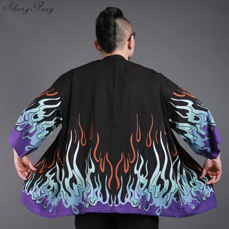 Japanese kimono cardigan men Japan clothing kimono shirt men male yukata traditional japanese kimonos Q675 Рубашка