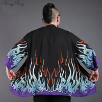 Japanese kimono cardigan men Japan clothing kimono shirt men male yukata traditional japanese kimonos Q675