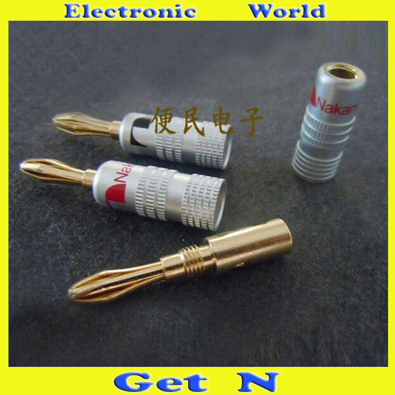 10pcs-100pcs Nakamichi Gold Plated Banana Jack/Plug Connectors Audio Speaker Cable Connectors Free Welding Banana Socket  high end audio grade nakamichi ac 205 24k gold plated banana plug for diy speaker cable
