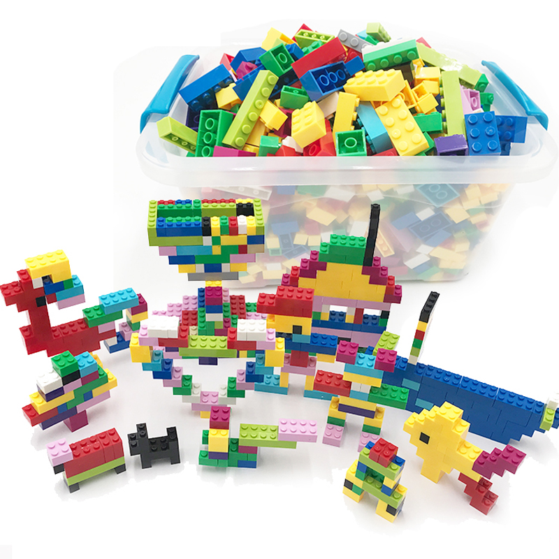 250-1000 Pieces Building Blocks Toy Sets City DIY Creative Bricks Bulk Model Educational Kids Toys Compatible Legoings