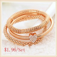 2015-New-Fashion-3pcs-set-Gold-Silver-Rose-Gold-Crystal-Heart-Elasticity-Bangles-Bracelets-For-Women