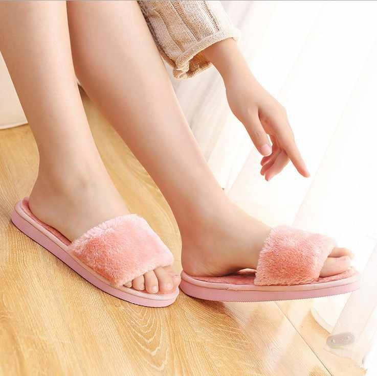 ฤดูร้อน 2019 ใหม่ hyoma Home Fur รองเท้าร้อนขาย Home Fur รองเท้าบ่อยให้คะแนนนอกบ้านรองเท้าแตะ Softsole ผู้หญิงรองเท้า