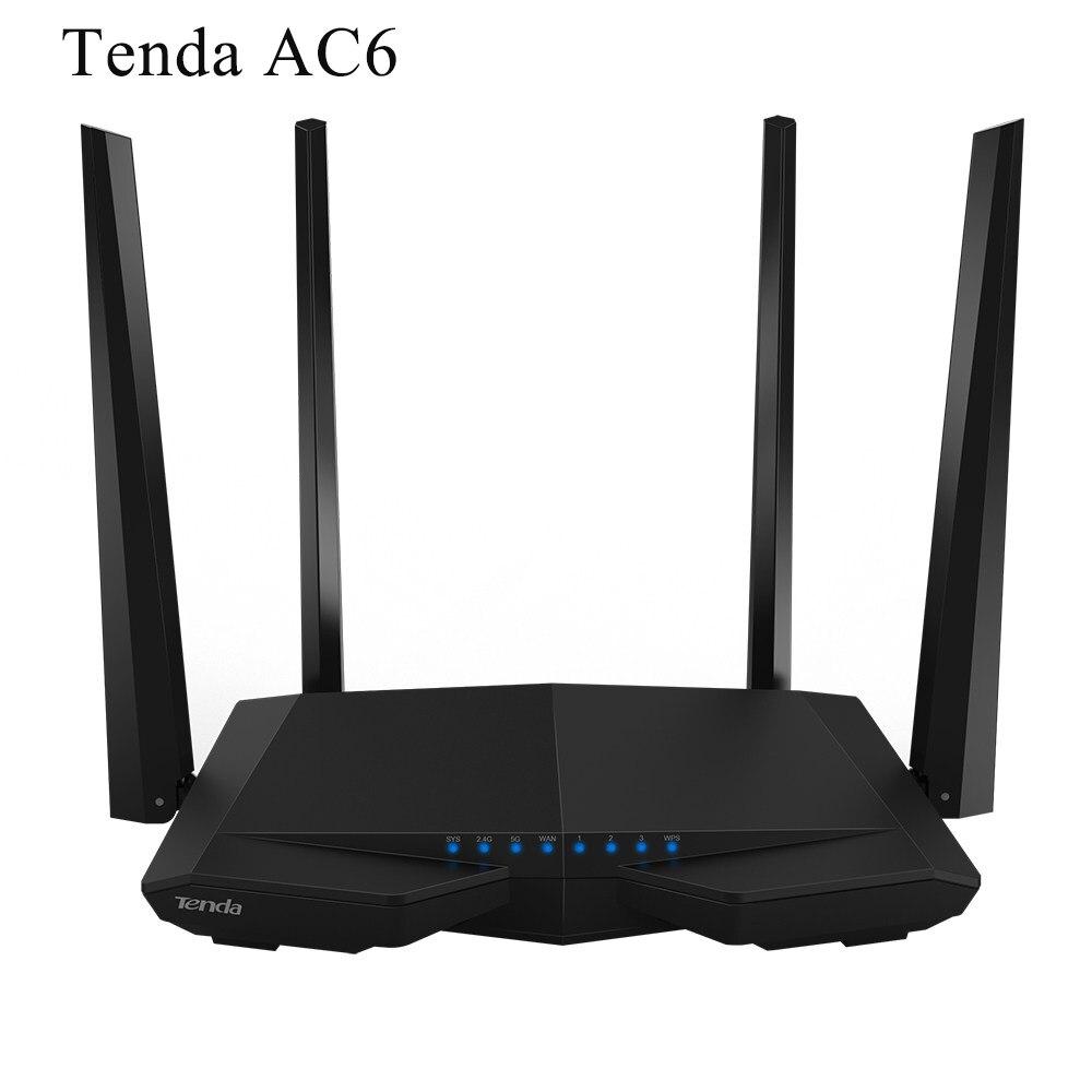 Prix pour Tenda ac6 sans fil wifi routeur 1200 mbps wi-fi 802.11ac dual band wi fi répéteur wps wds anglais firmware