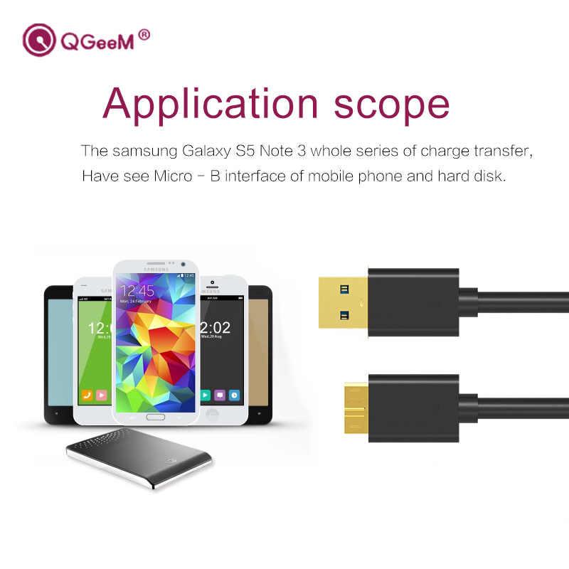 QGEEM マイクロ USB 3.0 ケーブルタイプ A マイクロ B ケーブル外部ハードドライブのディスク HDD サムスン S5 Note3 USB HDD データケーブル
