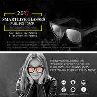Party Favors 2017 New Smart Live Streaming Glasses FHD 1080P Cap Hidden WIFI Camera Video Glasses