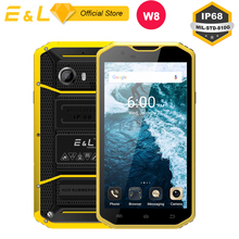E L W8 Rugged Smartphone 5 5 Inch HD IPS 4G Touch Mobile Phone MTK6753 Octa