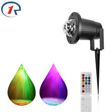 ZjRight LED bühne licht IR Remote Wasser Welle Welligkeit Wirkung Wasserdichte outdoor RGBW Home party Hochzeit decor KTV bar disco lichter(China)