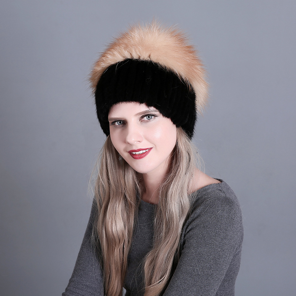 7eefd06b3 Russian Leather Fur Bomber Hat Men 2018 Winter Warmer Hats with ...