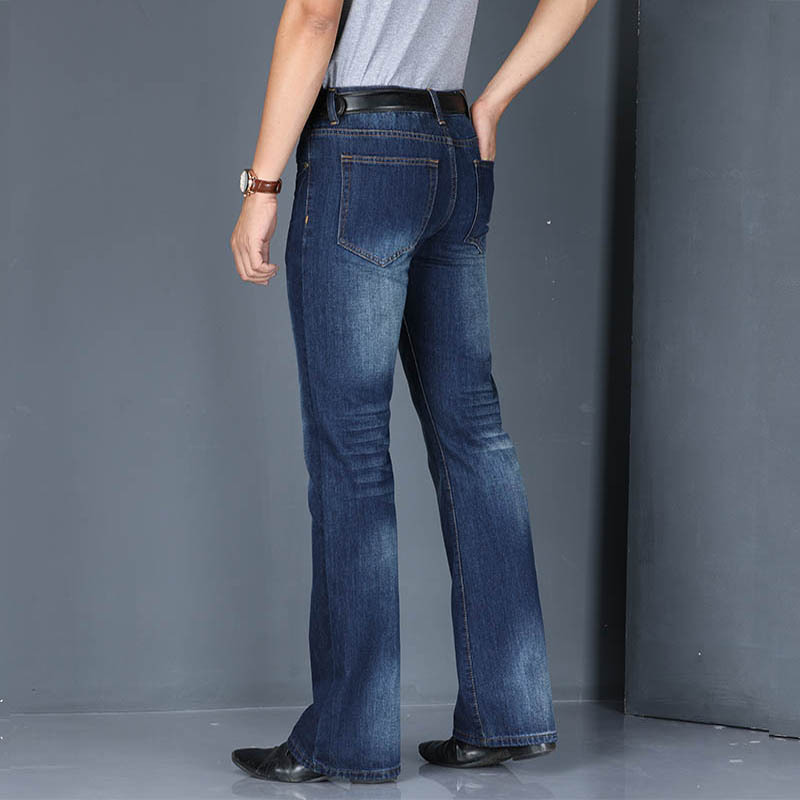 Jeans Men 2019 Mens Modis Big Flared Jeans Boot Cut Leg Flared Loose Fit high Waist Male Designer Classic Denim Jeans Pants in Jeans from Men 39 s Clothing