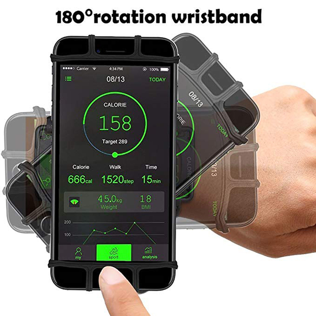 4-6in Running Bag Phone Armband Running Pouch Strap Jogging Sport Gym Arm Band Belt cuff telephone for fitness accessories 2