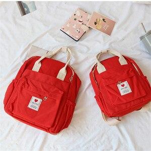 Image 5 - Corée du sud belle Ins sac souple femme étudiant japonais Harajuku sac à dos petit frais Ulzzang violet sac à dos