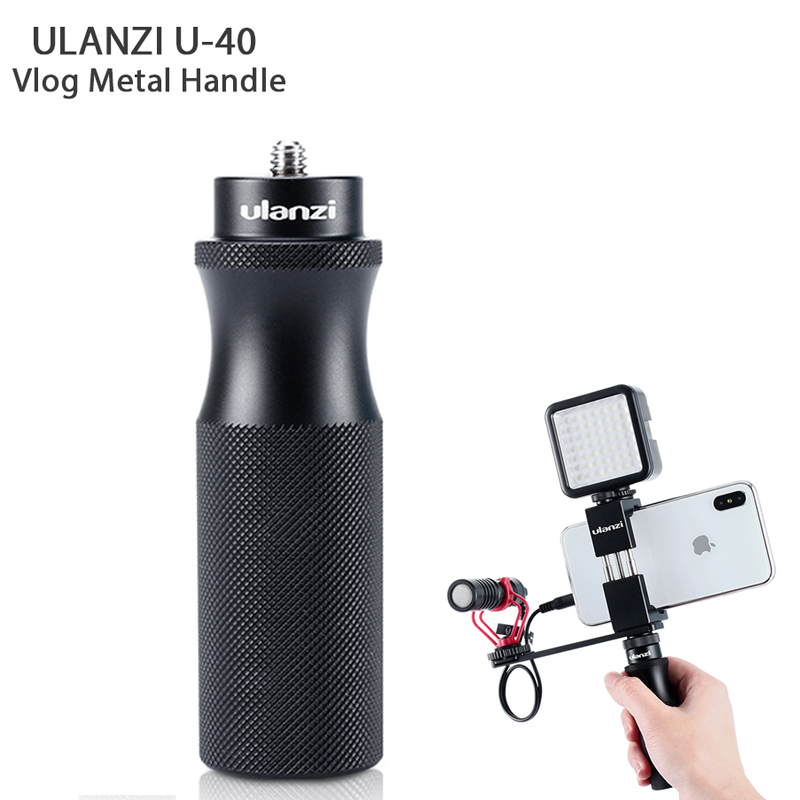Ulanzi 1/4'' Aluminum Vlog Handle Grip Video Rig For Iphone Gopro Hero 7/6/5 Sony Rx0 Ii Videomakers Vloggers Live Stream