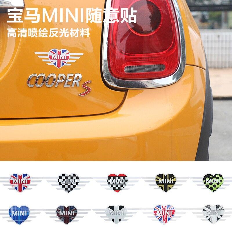 Union jack amor mini adesivos de carro emblema decalques para bmw mini cooper countryman clubman f55 f56 r55 r56 r60 f60 acessórios do carro