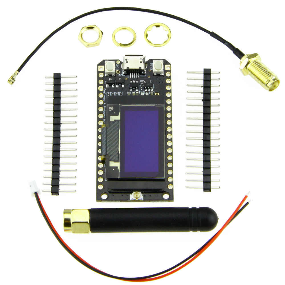 Module de carte de développement de ESP-32 Wifi Bluetooth Lora32 Lora 868 Mhz ESP32 Lora Oled 0.96 pouces écran bleu avec antenne