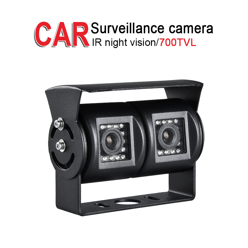 700TVL HD Metal Dual Rear View Camera,1/3 CCD Sony,Outdoor Waterproof,IR Night Vision for Vehicle Car DVR Surveillance Security gwsecurity security dvr surveillance camera system with hard drive sony exview ccd 700tvl outdoor security camera built in 2 8 12mm varifocal zoom lens 115 ft ir day night vision