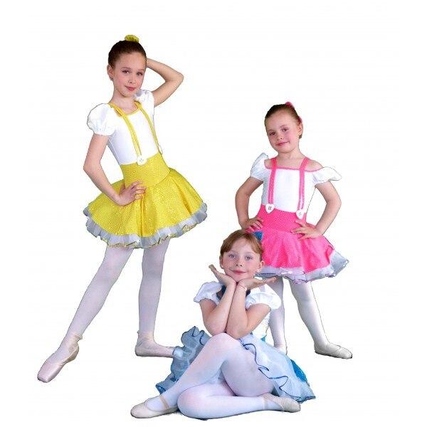 2016 ruée nouveau genou-longueur maille enfants robes pour filles livraison gratuite enfant danse robe Costume Performance porter enfant princesse