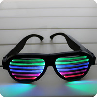 Sound Control Led Flashing Glasses Halloween Glowing Party Mask Decor Bar Flashing Voice Activated Luminous Glasses