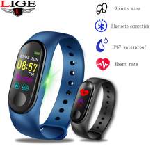 Sport Bracelet Waterproof Smart Fitness Pedometer Activity tracker Bluetooth Heart Rate Monitor Watch
