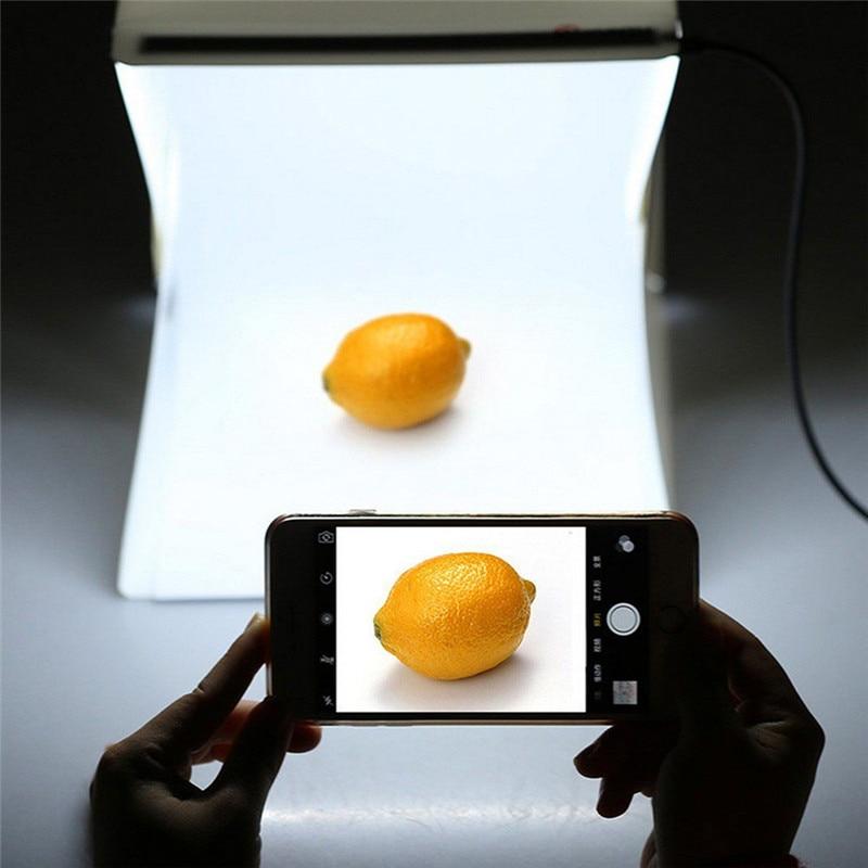 Portable 40*40CM Folding Lightbox Photography LED Light Room Photo Studio Light