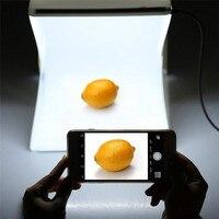 Portable 40*40CM Folding Lightbox Photography LED Light Room Photo Studio Light Tent Soft Box Backdrops for Digital DSLR Camera