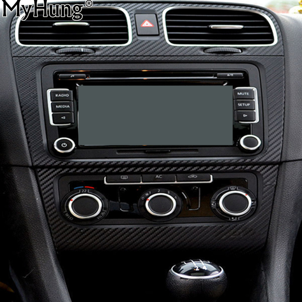 Voiture Bord Central Et Climatisation Sortie Autocollant Pour Volksvagen VW Golf 6 MK6 5 pcs Par Ensemble Car Styling Auto accessoires