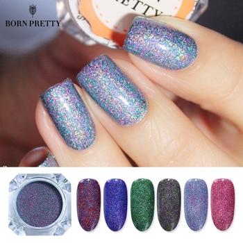 NASCIDO MUITO Estrelado Prego Glitter Pó Poeira Manicure Nail Art Decorações Glitters Holográfico Laser