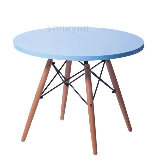 Minimalist Modern MDF Dining Leisure Table Modern Kids Learn Table  Childrenu0027s Toys Table Round Table