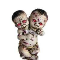 1pcs Halloween Decoration Horror Halloween Props Party Supplies Latex Double Headed Ghost Baby Haunted House Scary Furnishings
