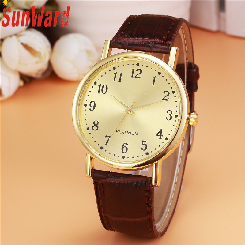 Relogio masculino 2017 Woman Mens Retro Design PU Leather Band Analog Alloy Quartz Wrist Watch wholesale Horloge17apr10 woman s retro flower dial analog quartz wrist watch w pu leather band yellow brass 1 x 377